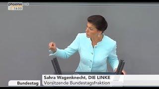 Völkerrechtswidriger Angriffskrieg gegen Syrien - Sahra Wagenknecht (Bundestag 18.4.2018)