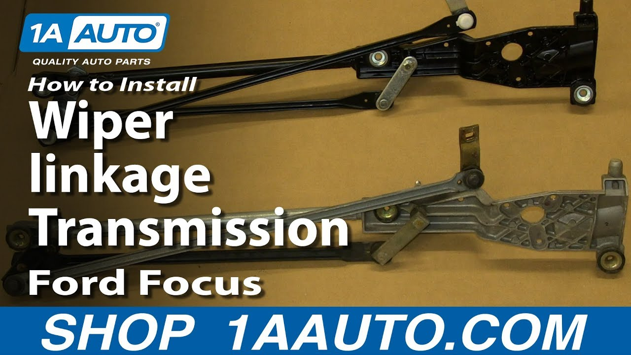 How To Install Replace Wiper linkage Transmission 2000-05 Ford Focus - YouTube
