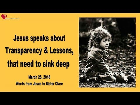 TRANSPARENCY & LESSONS, THAT NEED TO SINK DEEP ❤️ Love Letter from Jesus