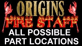 """""""Black Ops 2 Origins"""" How To Build The Red Fire Staff! ALL POSSIBLE PART LOCATIONS (BO2 Zombies)"""