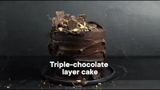 Triple-chocolate layer cake  Woolworths TASTE Magazine