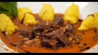 Поджарка из говядины с изюмом и кедровыми орехами | Мясо. От филе до фарша