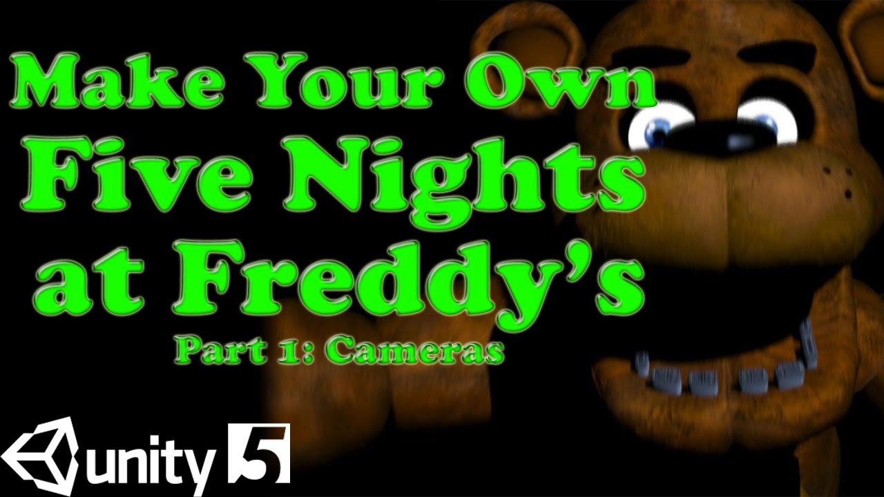 Make Five Nights At Freddy's Game Unity 5 Tutorial - Part 1: Camera Map  FNAF Remake