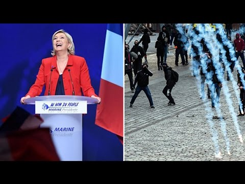 'I will protect you!' Marine Le Pen vows to end all immigration to France