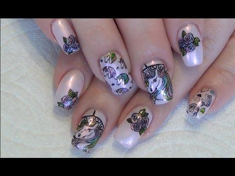 Unicorn Gel Nail Design Stamping Gel Polish Sharpie Marker