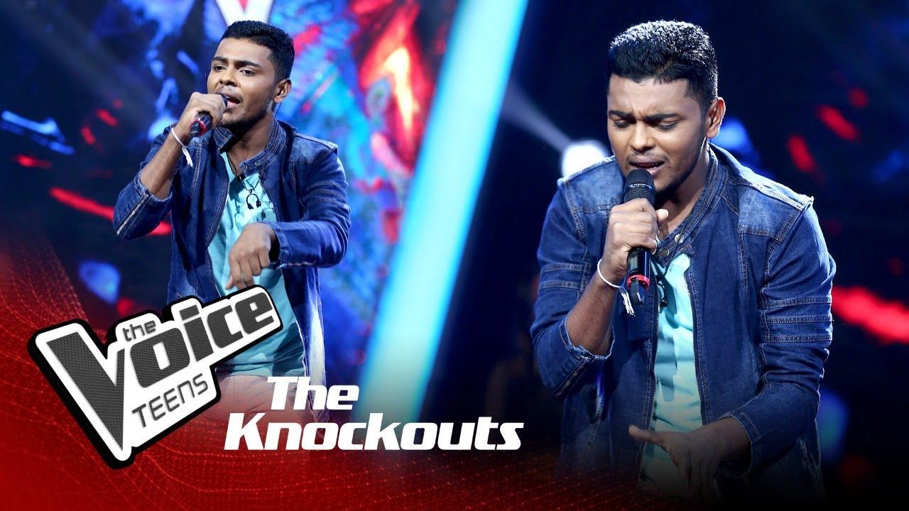 Dasith Lakpura | Dura Akahe (දුර ආකාහේ) | Knockouts | The Voice Teens Sri Lanka