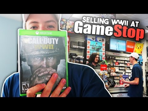 SELLING CALL OF DUTY WWII AT GAMESTOP!!