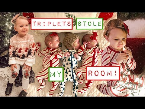 TRIPLETS TAKE OVER BIG SISTERS ROOM  A PERFECT TRIPLET CHRISTMAS  THE REAL SANTA CLAUS