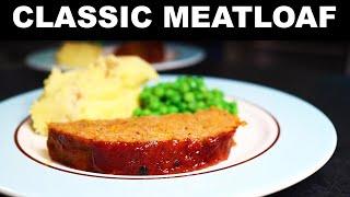 Meatloaf with sweet glaze, dishes-minimizing recipe