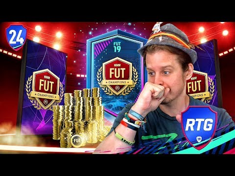 CHAMPIONS LEAGUE CARDS + FUT CHAMPS REWARDS PACKS! ZWE TO GLORY #24 FIFA 19 ULTIMATE TEAM RTG