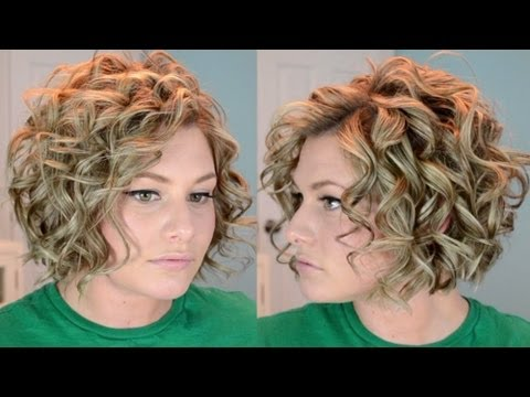short curly hair tutorial youtube