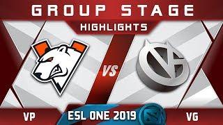 VP vs VG ESL One Hamburg 2019 Highlights Dota 2