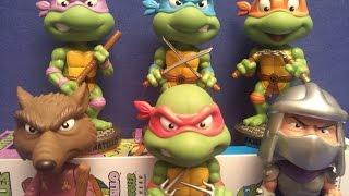 tmnt teenage mutant ninja turtles funko wacky wobbler bobblehead collection review