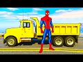 Spiderman Repairs Yellow Dump Truck for Kids - Cars Cartoon with Superhero and Children's Songs