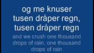 Kaizers Orchestra - Tusen Dråper Regn (Lyrics with English Translation)