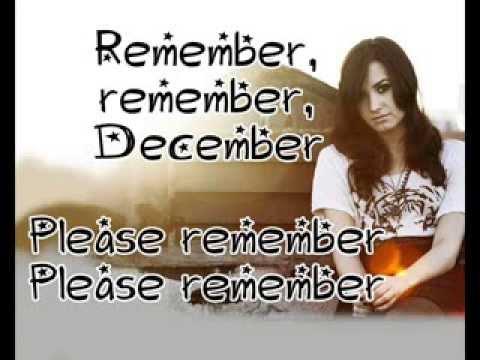 Remember December Demi Lovato + Lyrics