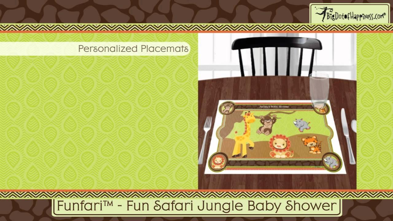 Charming Fun Safari Jungle Baby Shower Theme Part - 13: Funfari™ - Fun Safari Jungle Baby Shower Theme - YouTube