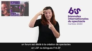 MER 22-JEU 23 JANV 2020 : LES BIS à NANTES / FORUM LSF