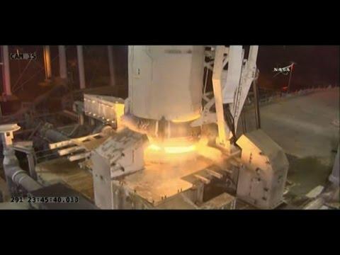 Orbital ATK launches cargo into space aboard Antares rocket