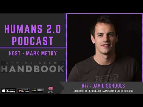 #77 - Dave Schools | Writing Your Way Around America with Entrepreneur's Handbook & Party Questions