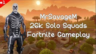 26 Kill Solo Squad Gameplay - Fortnite Battle Royale