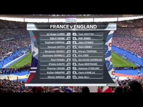 Франция - Англия 3:2 видео