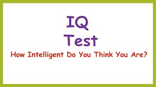Test Your IQ #3 80% Fail in this test.