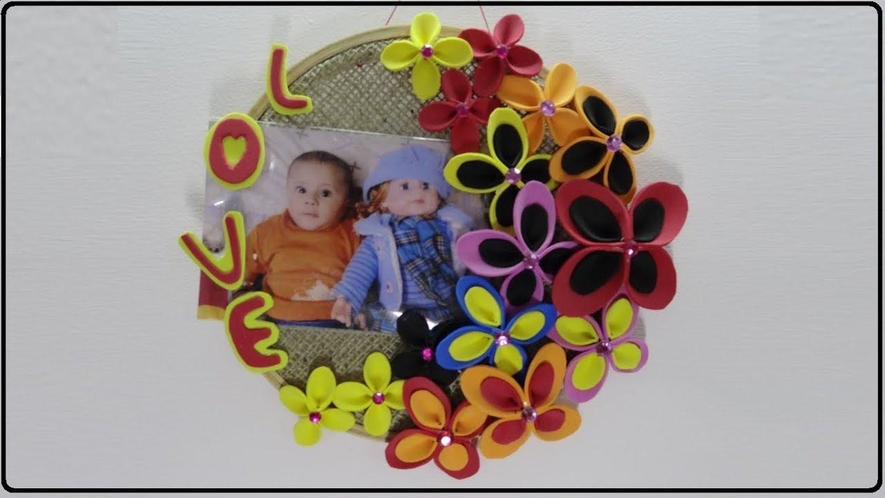 Diy Paper Crafts Photo Frame Making At Home Photo Frame