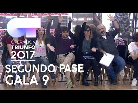 SEGUNDO PASE DE MICROS PARA LA GALA 9 (COMPLETO) | OT 2017