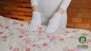 Одеяло овечья шерсть в хлопковой ткани. Видео обзор. Выбрать одеяло.