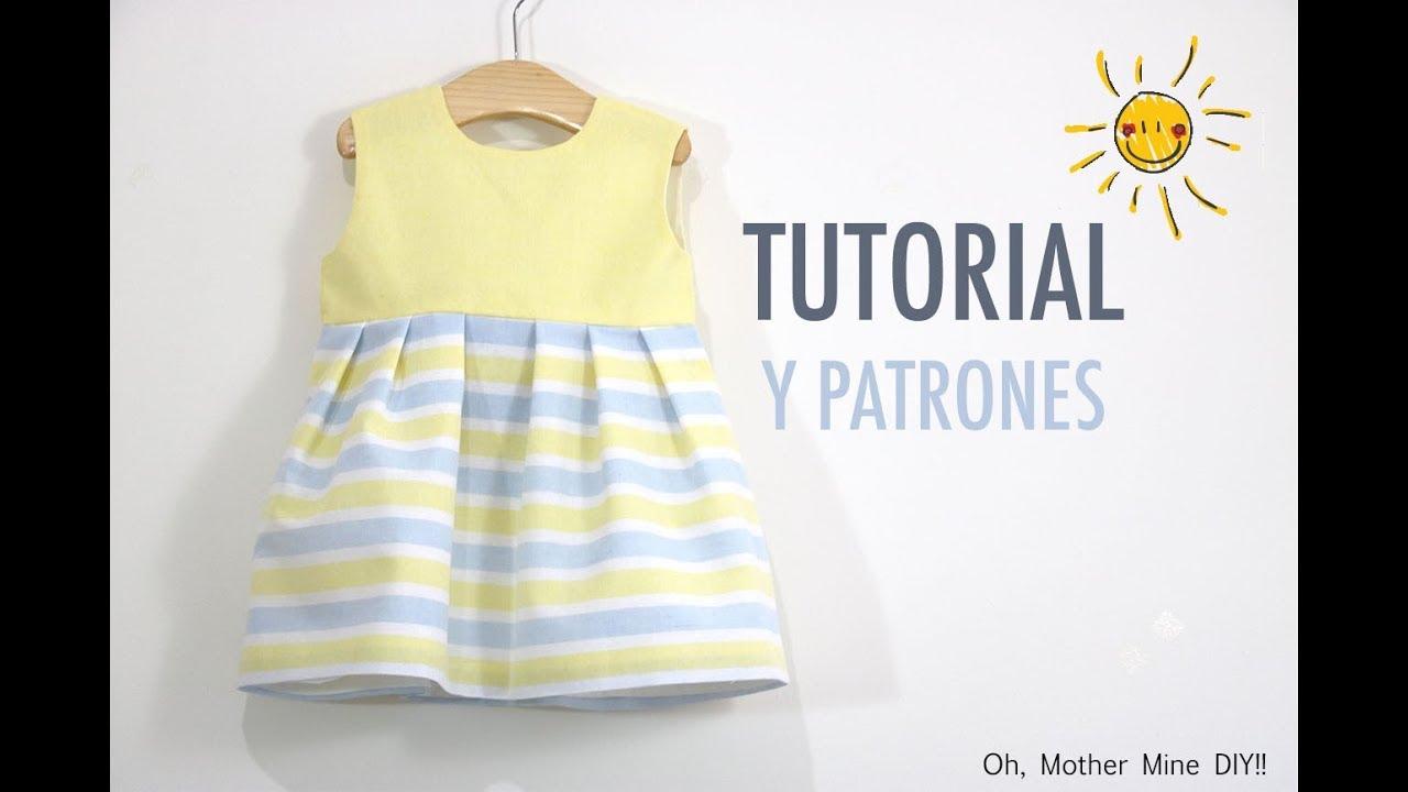 Costura: Vestido niña (patrones gratis talla hasta 8 años) - YouTube