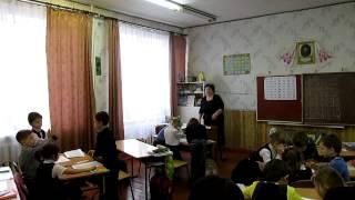 Відео урок навчання грамоти в першому класі