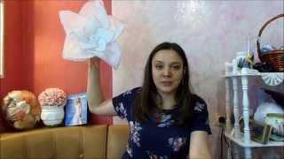 Большие цветы из ткани для свадебного декора(Видео урок о том, как сделать большие цветы из ткани. Так же узнайте о марафоне для свадебных декораторов-..., 2015-04-04T11:36:09.000Z)