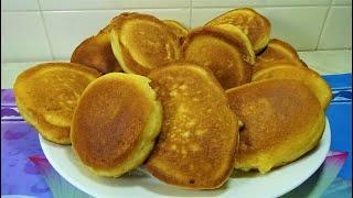 Пышные Оладьи как бисквит  Рецепт очень вкусный