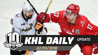 Daily KHL Update - January 22nd, 2018 (English)
