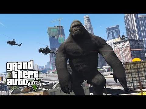 GTA 5 Mods - ULTIMATE KING KONG MOD!! GTA 5 King Kong Mod Gameplay! (GTA 5 Mods Gameplay)