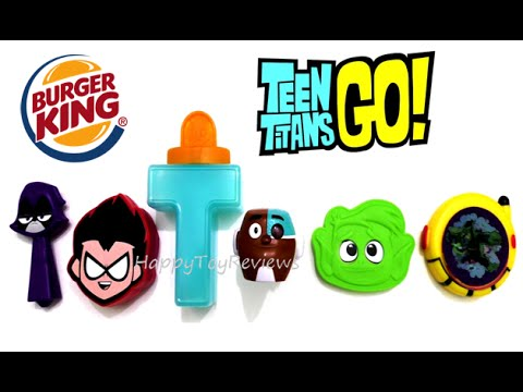 0aa406a892e1 2015 TEEN TITANS GO BURGER KING COMPLETE SET OF 6 KIDS MEAL TOYS COLLECTION KING  JR REVIEW