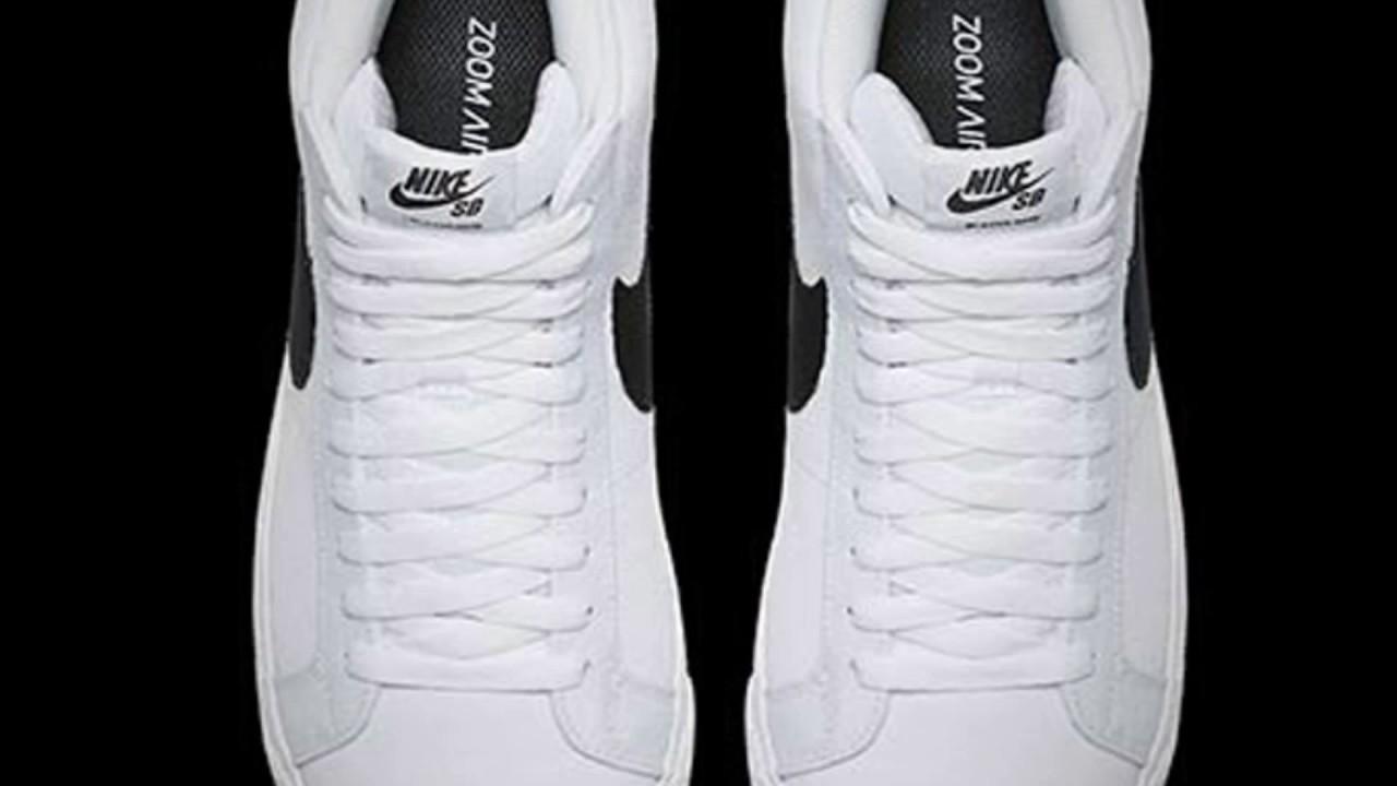 NIKE SB BLAZER MID CANVAS (BLACK/WHITE). Sneaker Freaker 2016