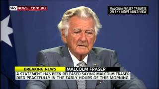 Former PM Bob Hawke Pays Tribute to Malcolm Fraser - Sky News - March 19th, 2015