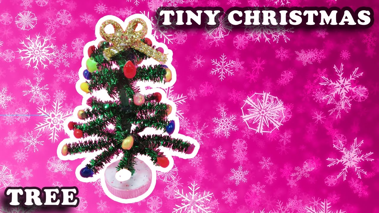 how to make a mini christmas tree with pipe cleaners crafts - Mini Pink Christmas Tree