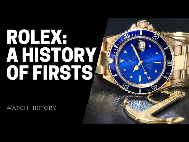 Rolex: Firsts in Watchmaking History - Rolex Innovations | SwissWatchExpo [Rolex Watches]