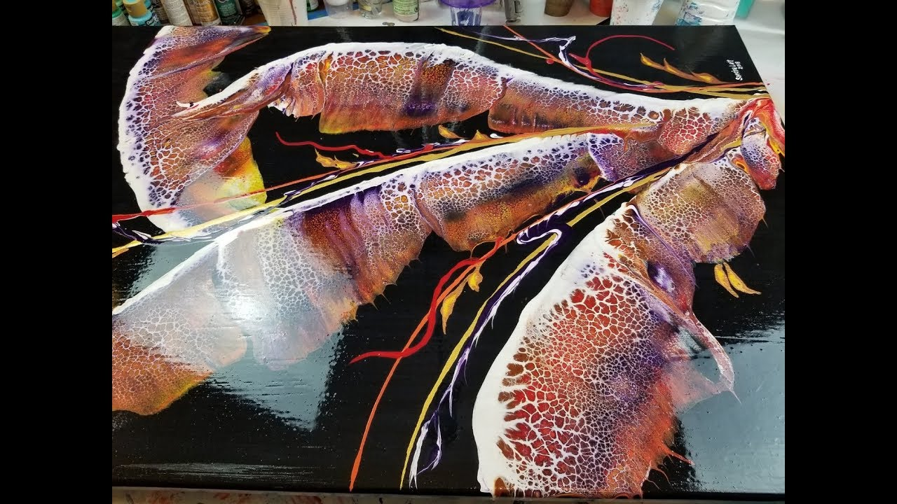 78 Sealing Acrylic Pour Paintings That Had Silicone With A High Gloss Varnish With Sandra Lett