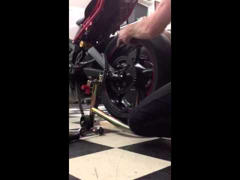 Triumph Daytona  Rear Wheel Quick Change