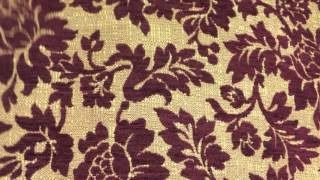 Plush Burgundy Red on Gold Brocade Upholstery Drapery Fabric By The Yard 54