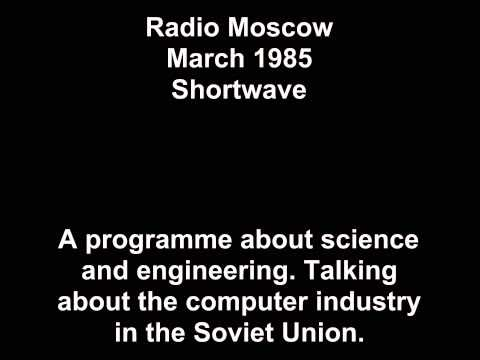 Radio Moscow - March 1985 - Computers in USSR