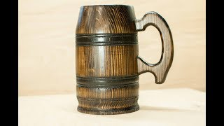 Turn a 2 X 4 into wooden stein - tankard
