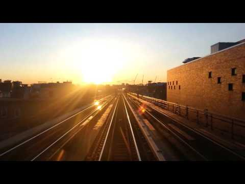 7 express train during sunrise in real time