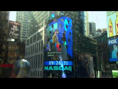 The Alliance on Times Square NASDAQ Screen