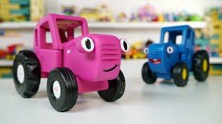 Поиграем в Синий трактор - Новая подружка - Ам Ням сделал розовый трактор