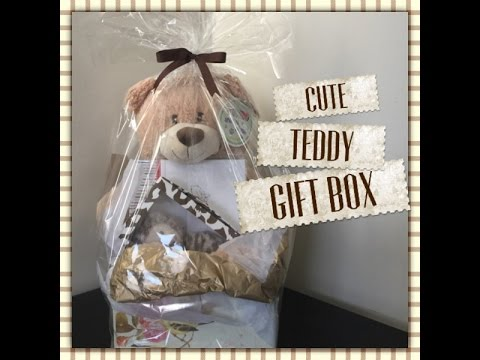Teddy Bear Giftbox Gift Wrapping Ideas Youtube